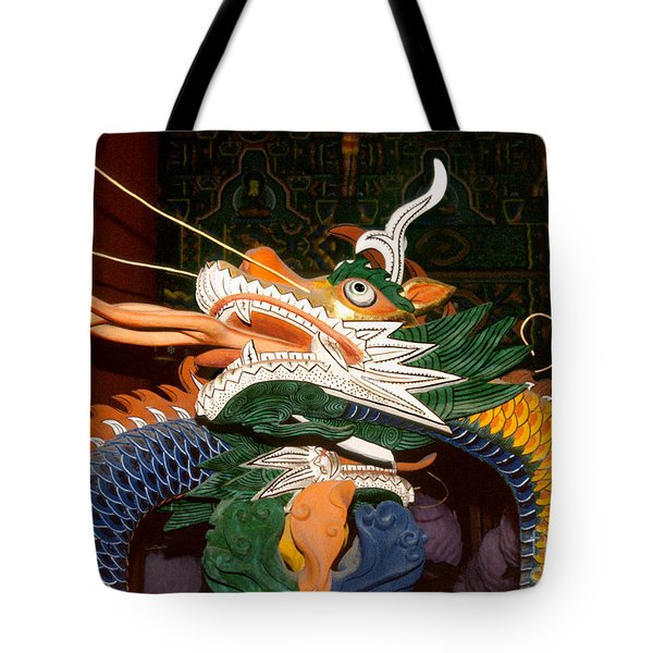 Buddhist Temple Sculpture - Korean Dragon Tote Bag