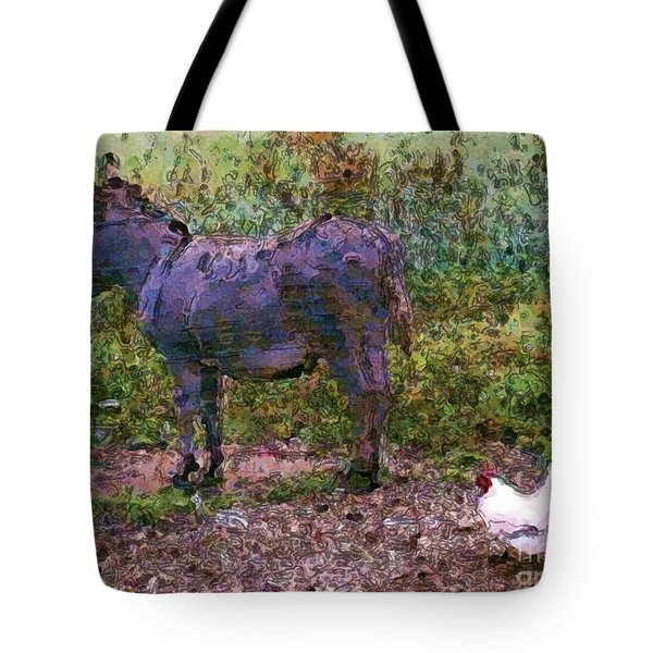 Buddies Take A Walk Tote Bag by Methune Hively