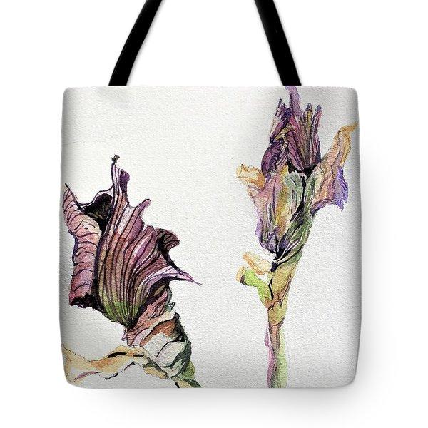 Budding Irises Tote Bag