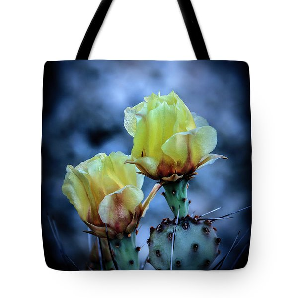 Tote Bag featuring the photograph Budding Prickly Pear Cactus by Robert Bales