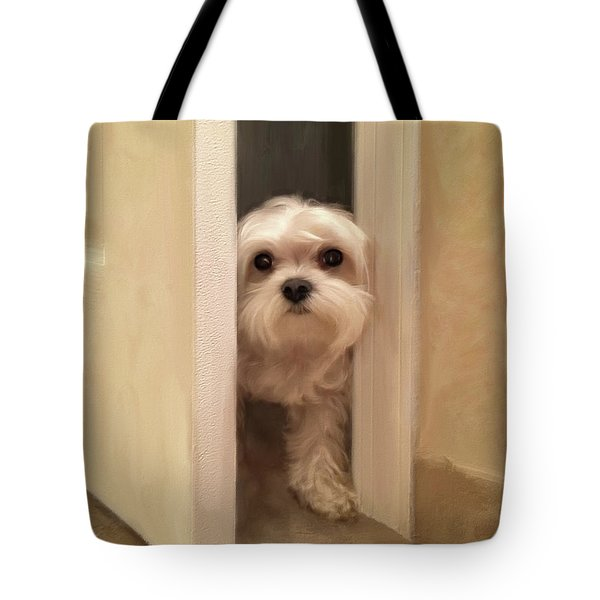 Tote Bag featuring the photograph Hello by Lois Bryan