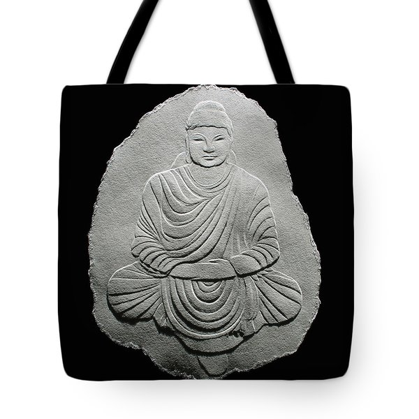 Budha - Fingernail Relief Drawing Tote Bag