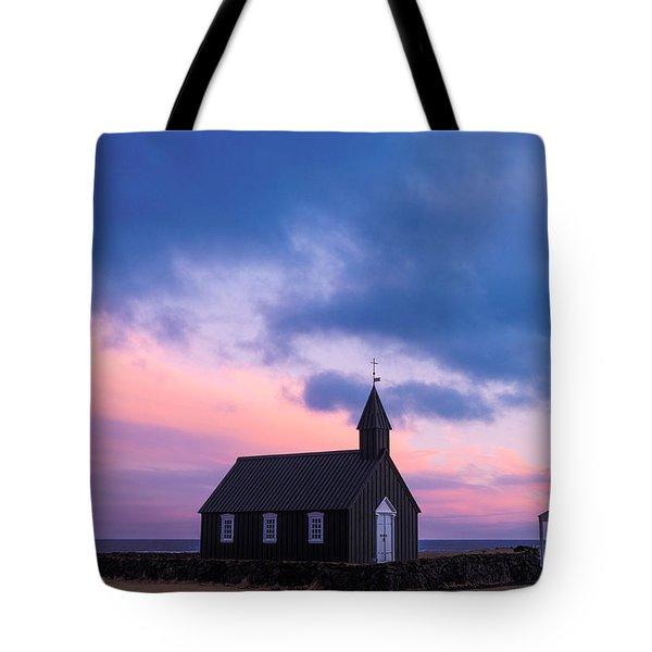 Tote Bag featuring the photograph Budir Black Church by Pradeep Raja Prints