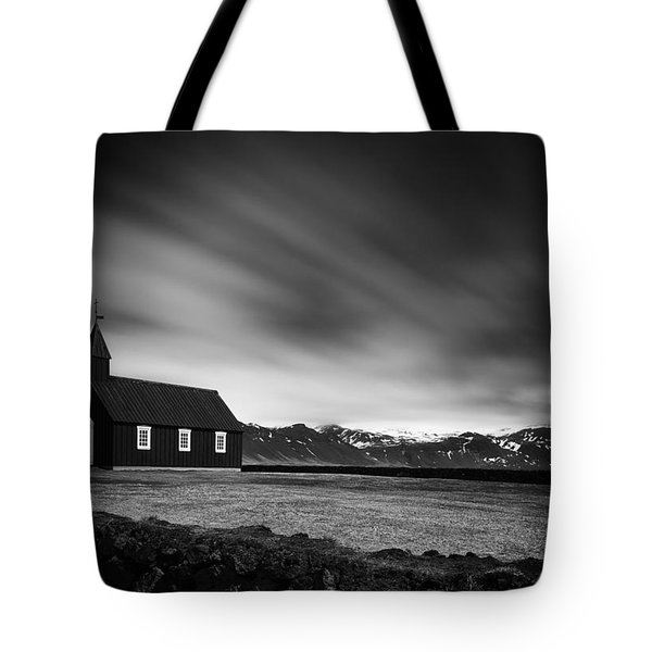 The Black Church Tote Bag by Dominique Dubied
