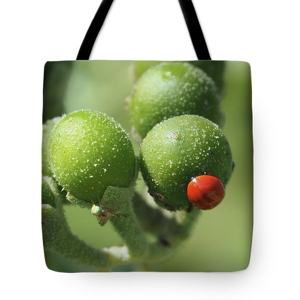 Buds And Bugs Tote Bag