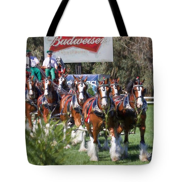 Budweiser Clydesdales Perfection Tote Bag