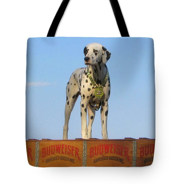 Budweiser Dalmatian Tote Bag by Victor Montgomery