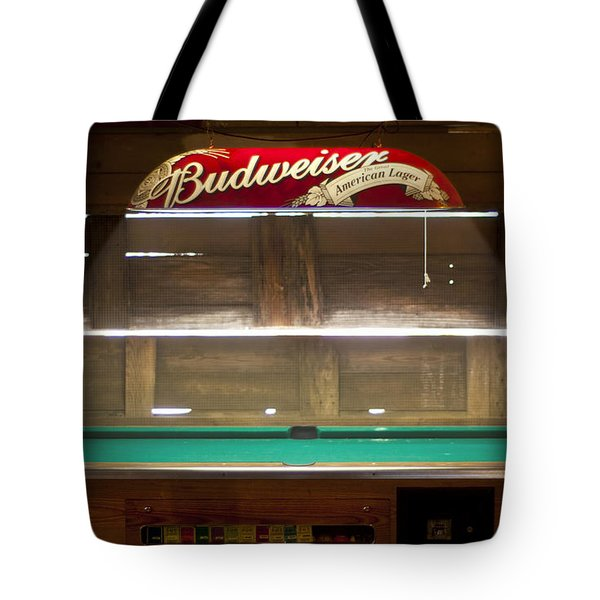 Budweiser Light Pool Table Tote Bag