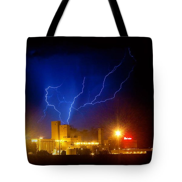 Budweiser Powered By Lightning Tote Bag by James BO  Insogna