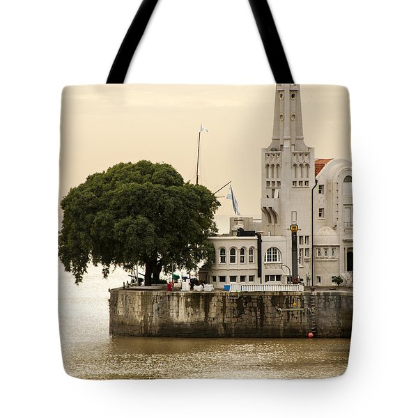 Buenos Aires Lighthouse Tote Bag by For Ninety One Days