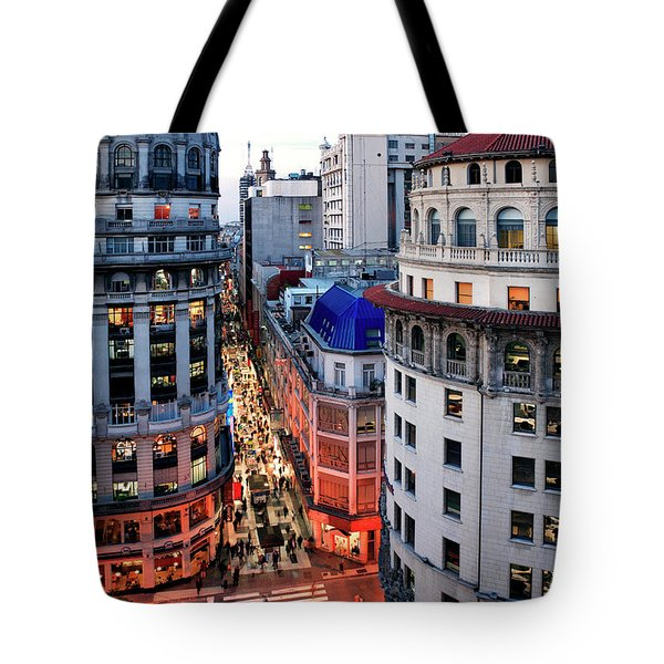 Tote Bag featuring the photograph Buenos Aires Street I by Bernardo Galmarini