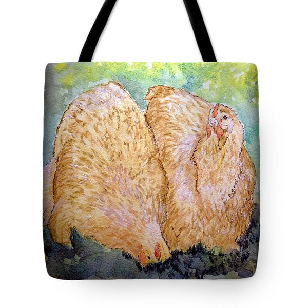 Buff Orpington Hens In The Garden Tote Bag