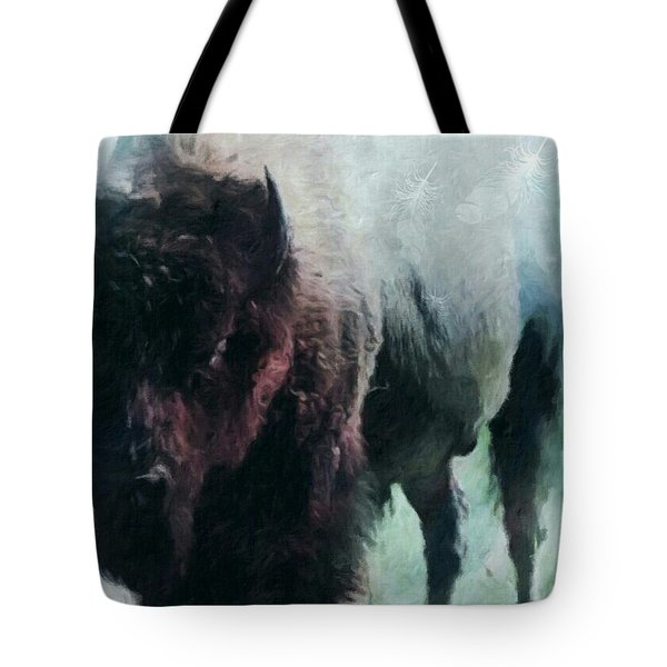 Buffalo American Bison Tote Bag