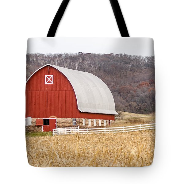 Tote Bag featuring the photograph Buffalo County Barn by Dan Traun