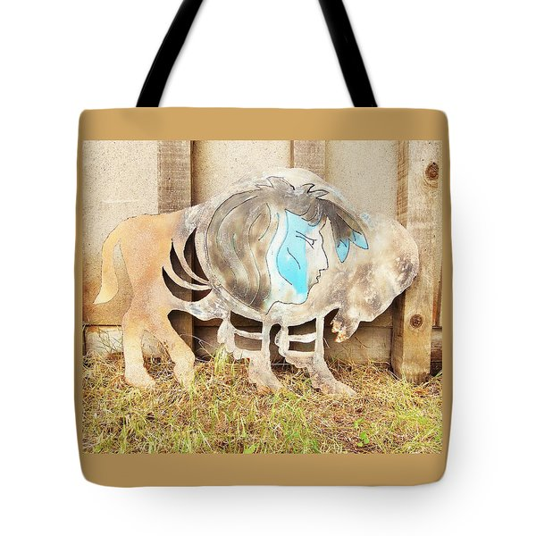Tote Bag featuring the photograph Buffalo Dreams by Larry Campbell