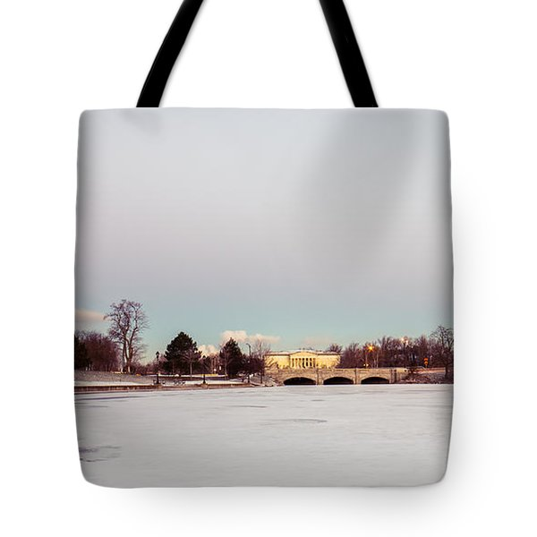 Buffalo History Museum Across Hoyt Lake Tote Bag by Chris Bordeleau