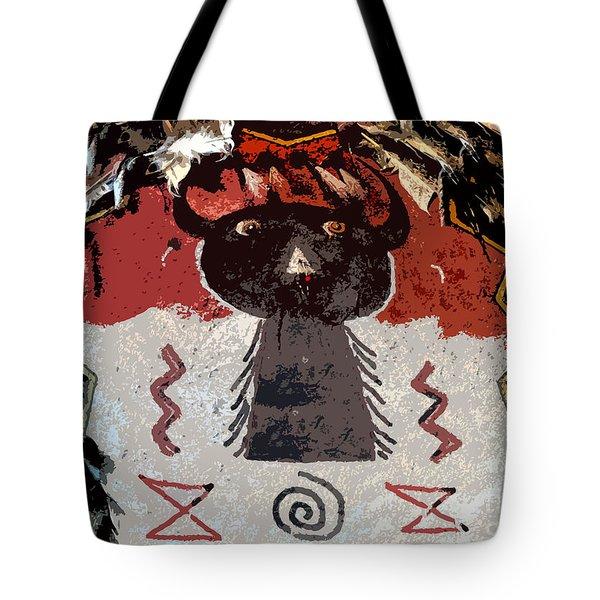 Buffalo Man Tote Bag by David Lee Thompson