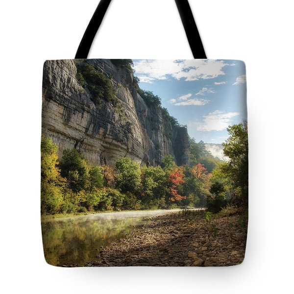 Buffalo River Morning Tote Bag