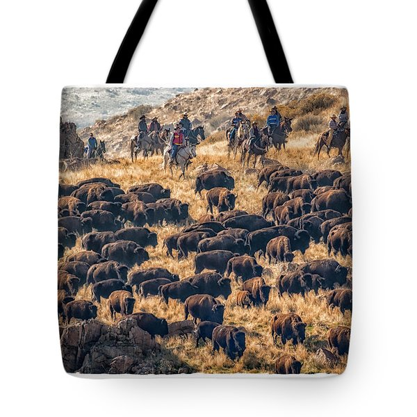 Buffalo Roundup Tote Bag