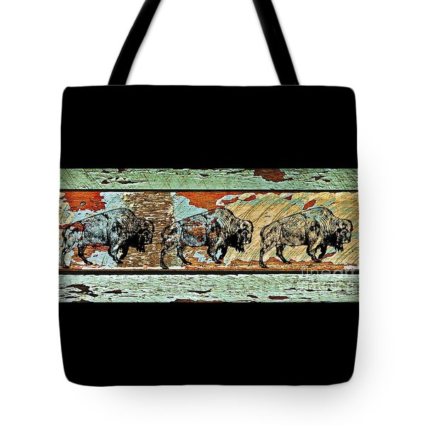 Tote Bag featuring the photograph Buffalo Trail 2 by Larry Campbell