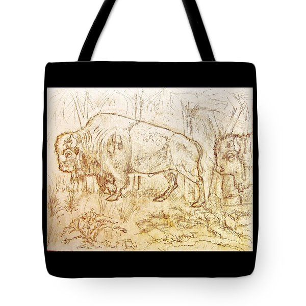 Buffalo Trail  Tote Bag