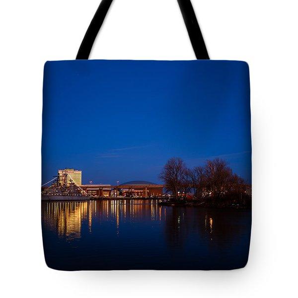 Buffalo Waterfront Twilight Tote Bag