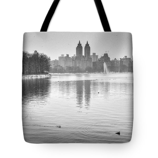 Buffelhead Ducks On The Reservoir Tote Bag