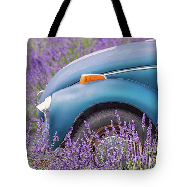 Tote Bag featuring the photograph Bug In Lavender Field by Patricia Davidson