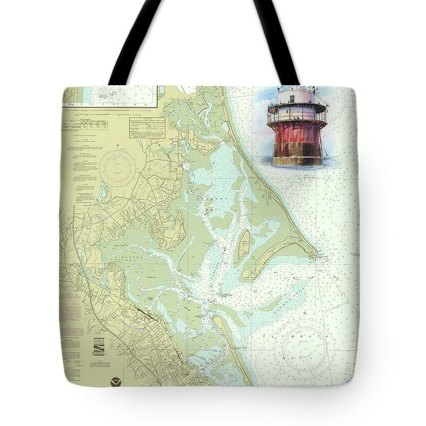 Bug Light On A Noaa Chart Tote Bag