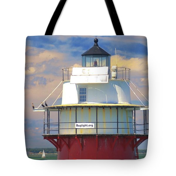 Tote Bag featuring the photograph Bug Light Plymouth by Amazing Jules