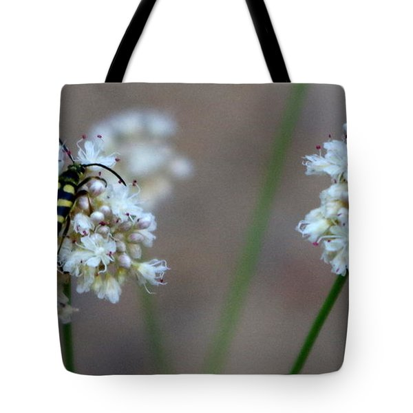 Bug On Flower Tote Bag