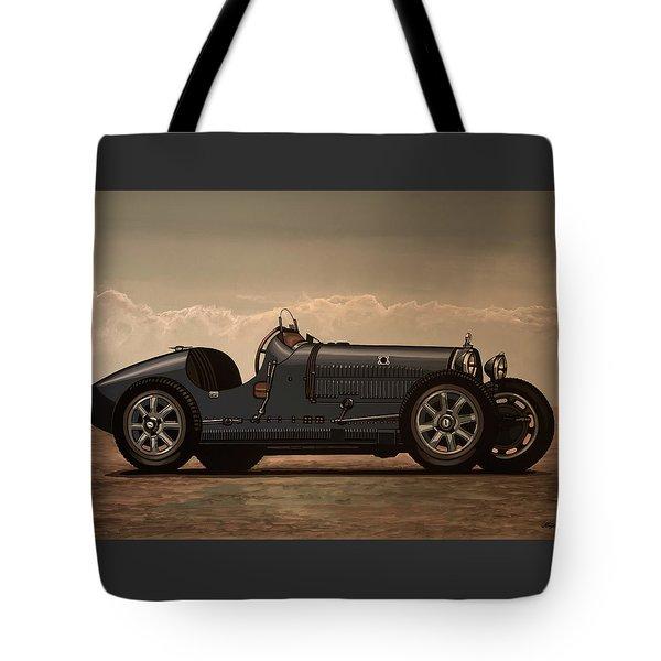Bugatti Type 35 1924 Mixed Media Tote Bag