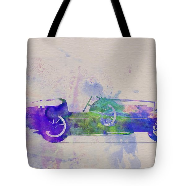 Bugatti Type 35 R Watercolor 2 Tote Bag by Naxart Studio