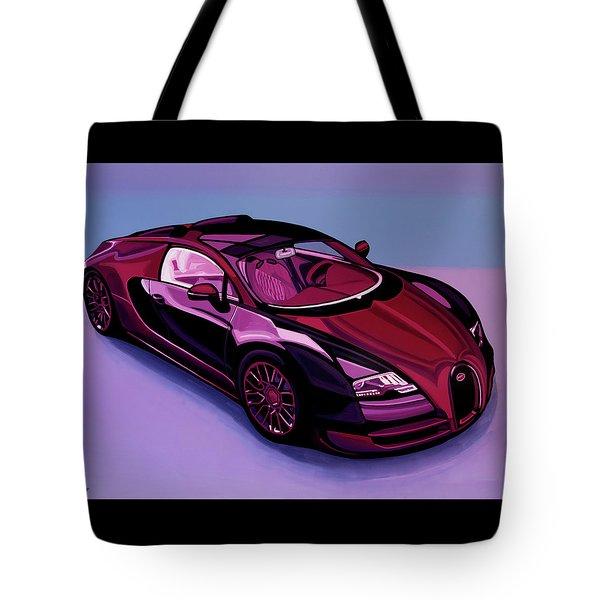 Bugatti Veyron 2005 Painting Tote Bag
