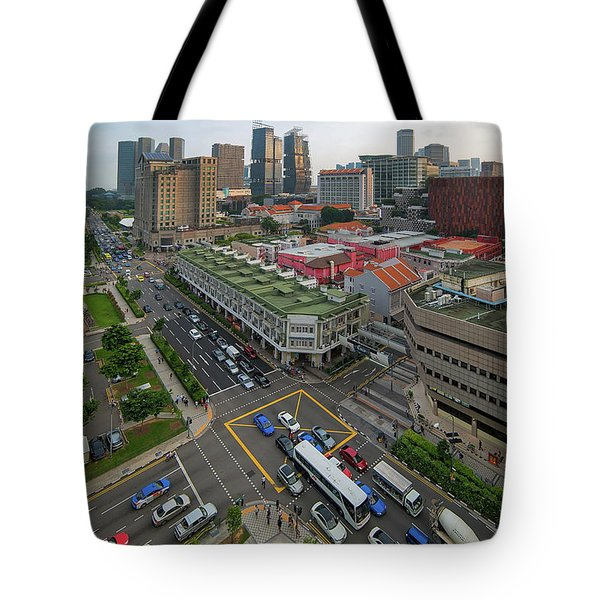 Bugis Village Junction In Singapore Entertainment District Tote Bag by David Gn