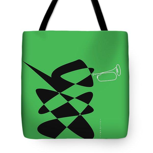 Tote Bag featuring the digital art Bugle In Green by David Bridburg