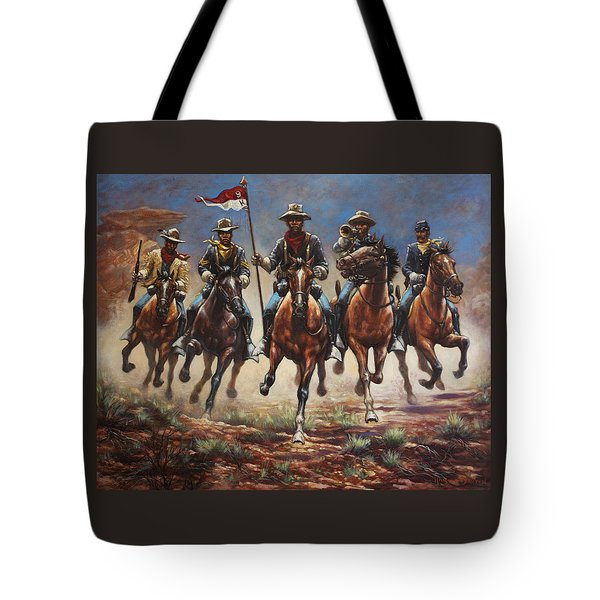 Bugler And The Guidon Tote Bag