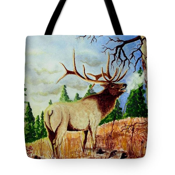Bugling Elk Tote Bag by Jimmy Smith