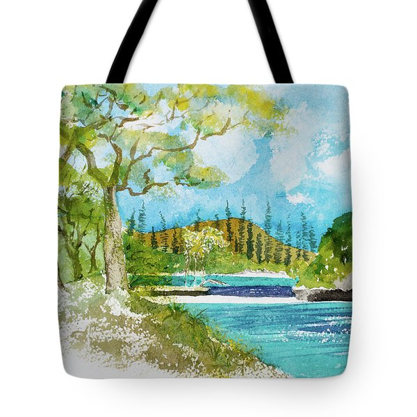 Bugny Trees At Kanumera Bay, Ile Des Pins Tote Bag