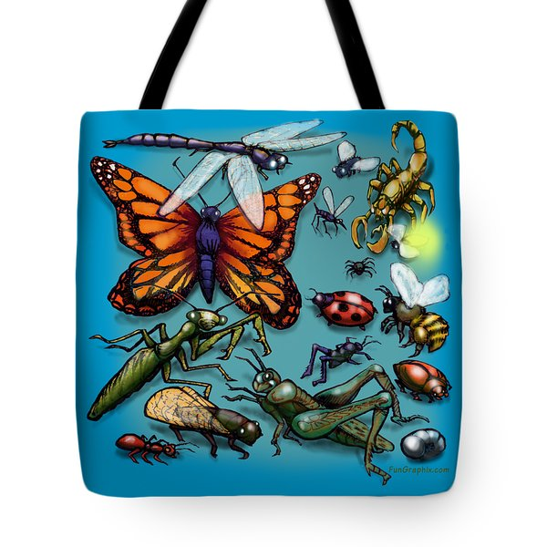 Bugs Tote Bag by Kevin Middleton