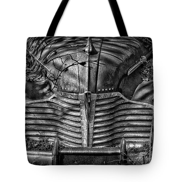Buick Eight Front End Bw Tote Bag