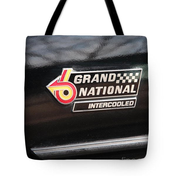 Buick Grand National Emblem Tote Bag