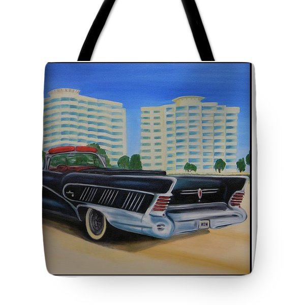 Buick On The Beach Tote Bag