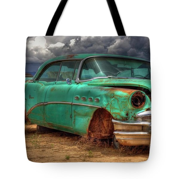 Tote Bag featuring the photograph Buick Super by Tony Baca