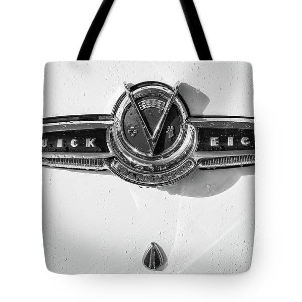 Tote Bag featuring the photograph Buick V Eight Monotone by Dennis Hedberg