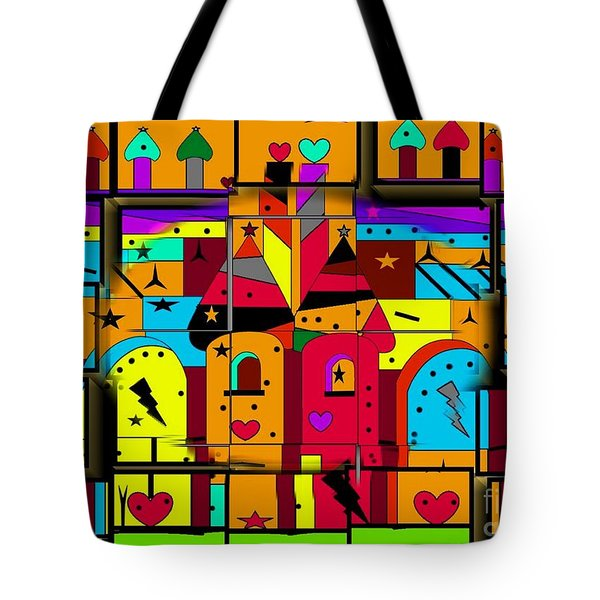 Tote Bag featuring the digital art Build Your Fairytale World By Nico Bielow by Nico Bielow