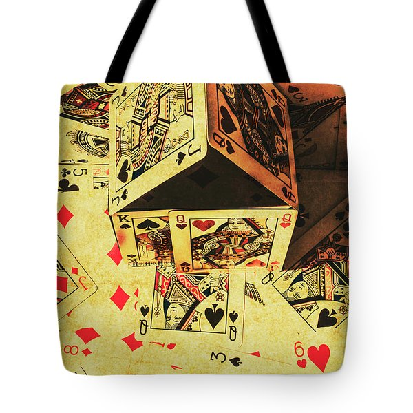 Tote Bag featuring the photograph Building Bets And Stacking Odds by Jorgo Photography - Wall Art Gallery