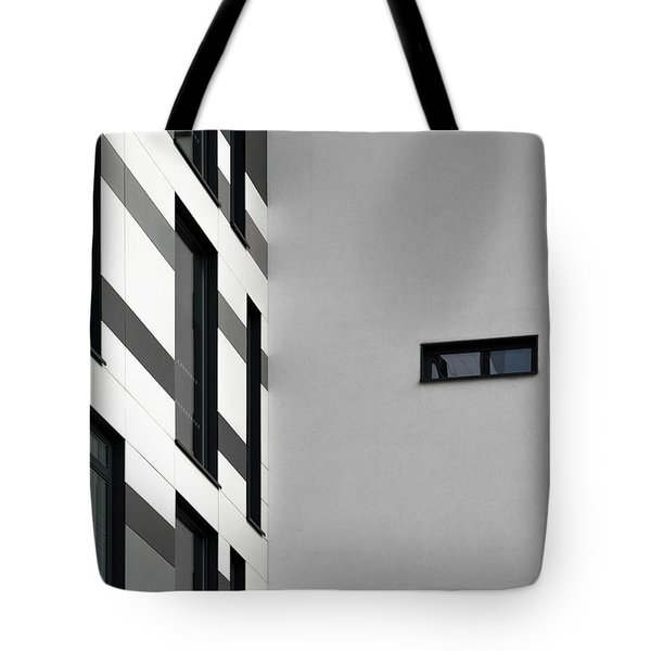 Tote Bag featuring the photograph Building Block - Black And White by Wendy Wilton