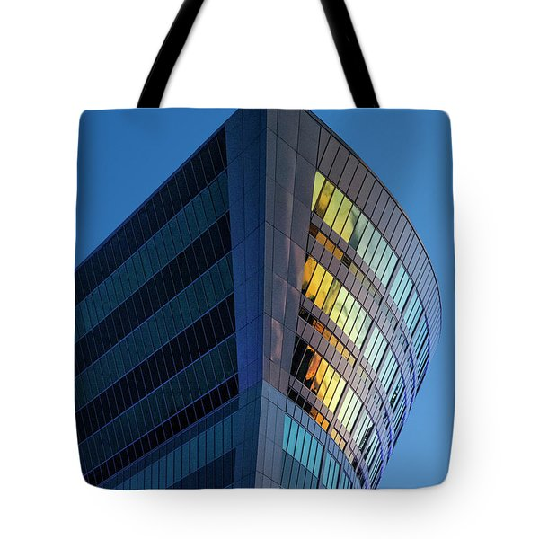 Building Floating In The Sky Tote Bag