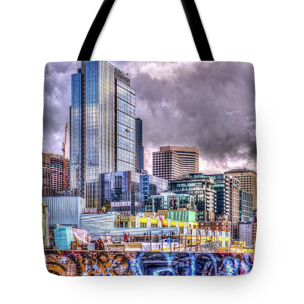 Building Seattle Tote Bag by Spencer McDonald